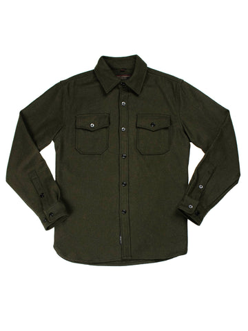 7810 Wool CPO Shirt - Olive