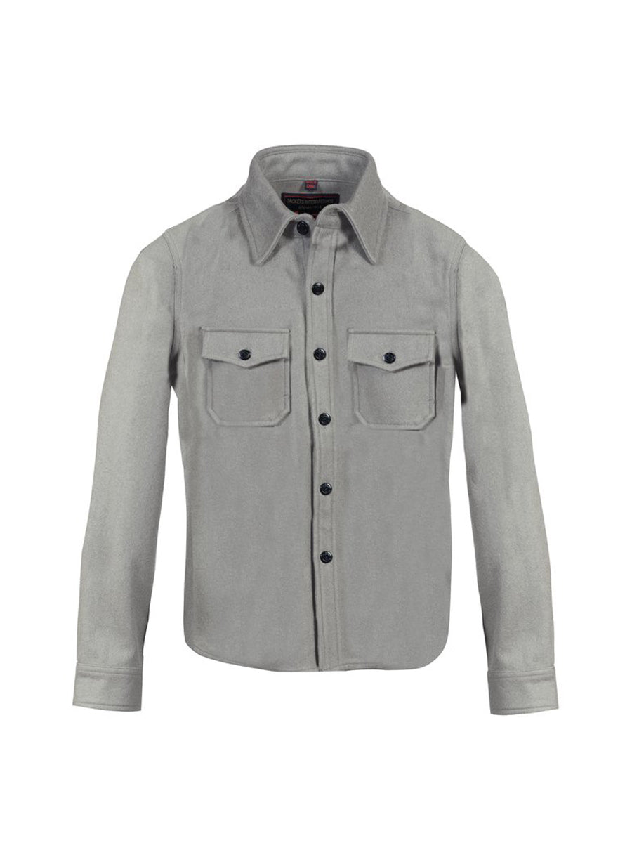 7910W Wool CPO Shirt - Heather Grey