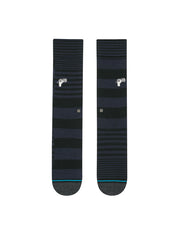 Power Flower Crew Socks - Black
