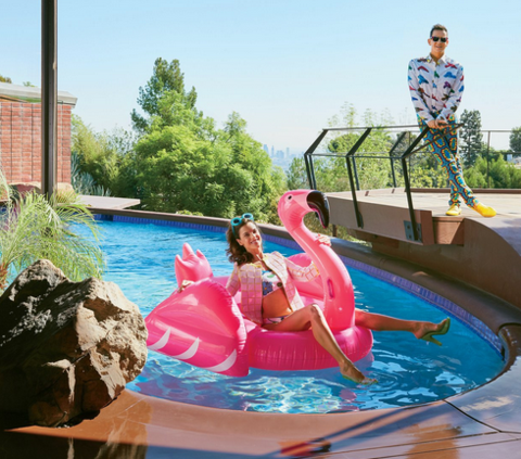 I am Jeremy Scott's Pink FUNBOY Flamingo. Confessions of a giant pool float