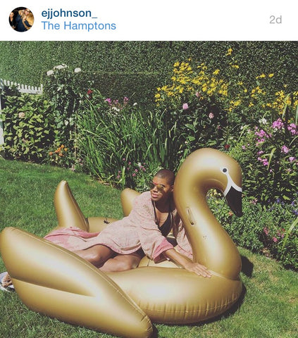 EJ JOHNSON LOUNGING- FEATURING THE FUNBOY GOLD SWAN