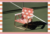 FUNBOY Retro Lawn Chair - Pink and Orange