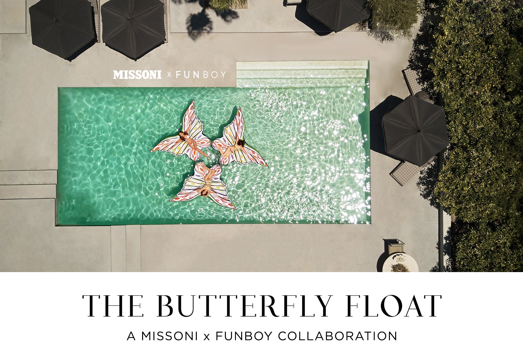 Missoni x FUNBOY Collab Butterfly Float