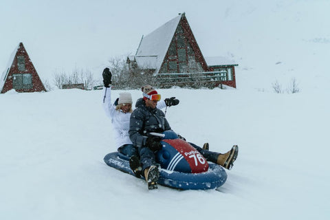 People on Snowmobile | FUNBOY
