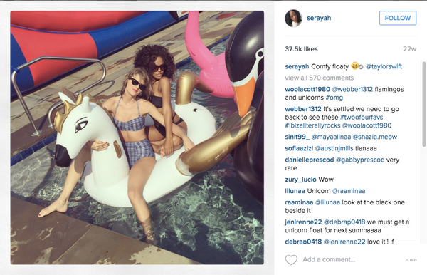 Serayah + Taylor Swift FUNBOY Pegasus Unicorn Pool Float
