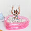 Clear Pink Heart Ball Pit for Kids