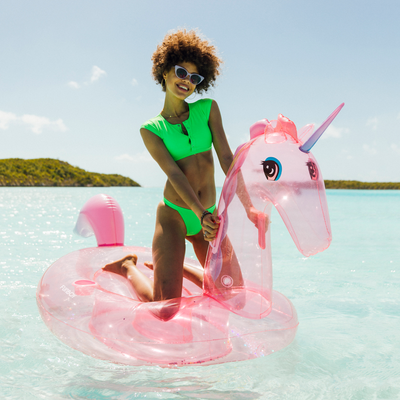 FUNBOY Glitter Pink Unicorn Pool Float