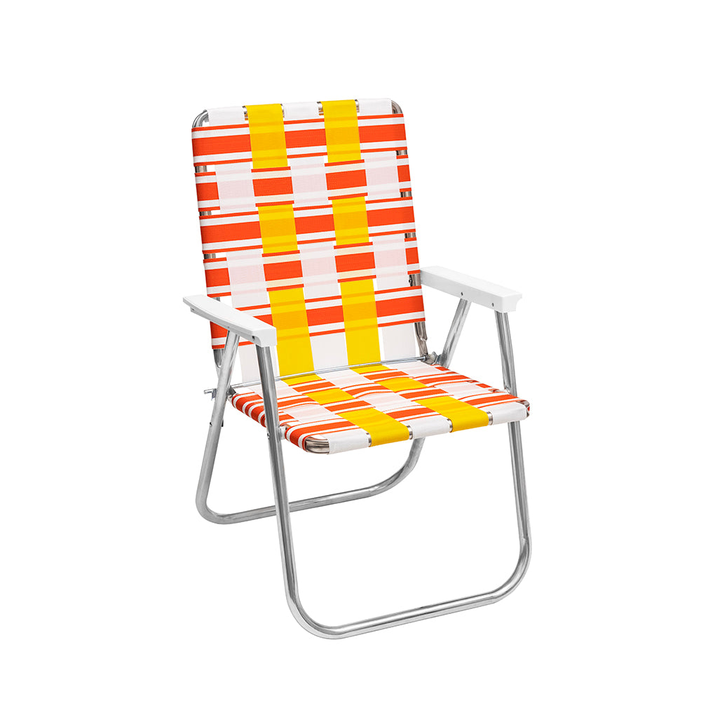 FUNBOY Retro Lawn Chair - Yellow/ Orange