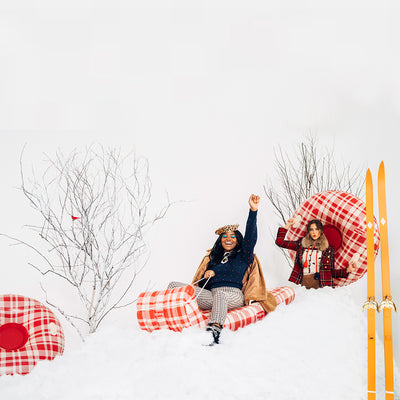 Plaid Inflatable Winter Snow Tube | FUNBOY