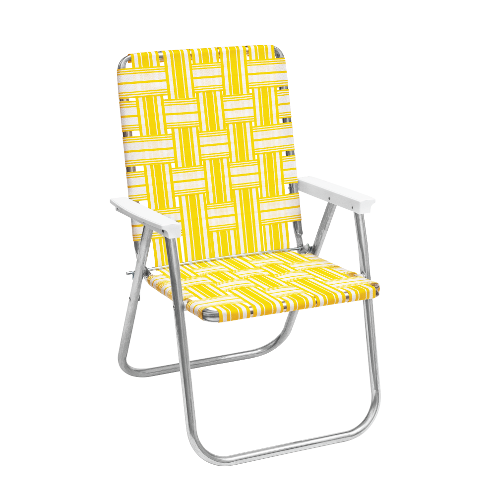 FUNBOY Retro Lawn Chair - Yellow & White