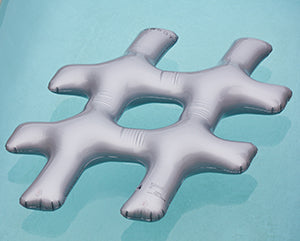 FUNBOY's Silver Hashtag Pool Float