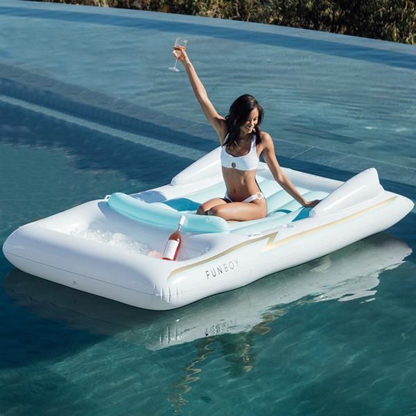 White Retro Convertible Float