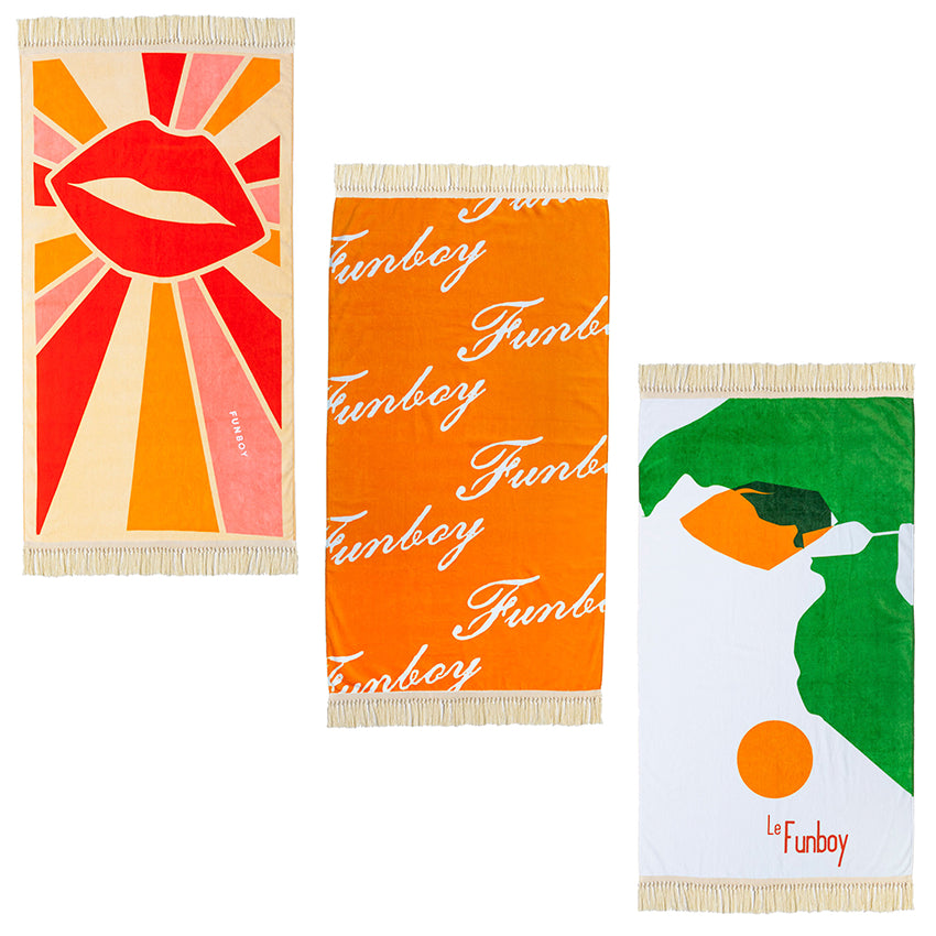 Fringe Beach Towel Bundle (3 Pack)