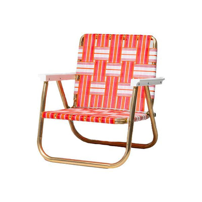 FUNBOY Retro Lawn Chair - Pink/Orange