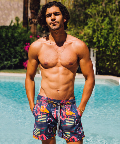 FUNBOY X Pangea Men's Swim Trunks: Hot Lips