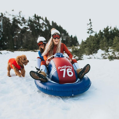 Inflatable Snowmobile Snow Sled - 2 Pack