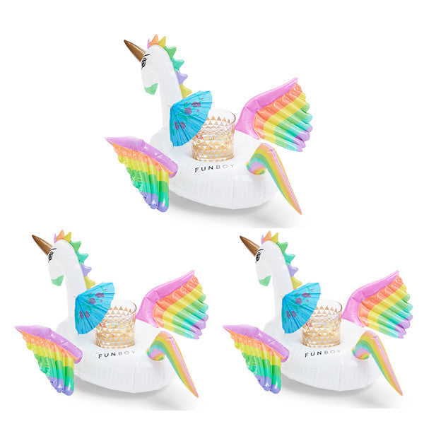 Rainbow Unicorn Drink Holder 3 Pack