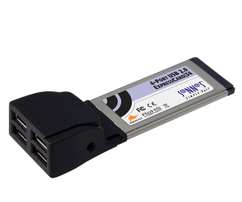 4-Port USB 2.0 ExpressCard/34