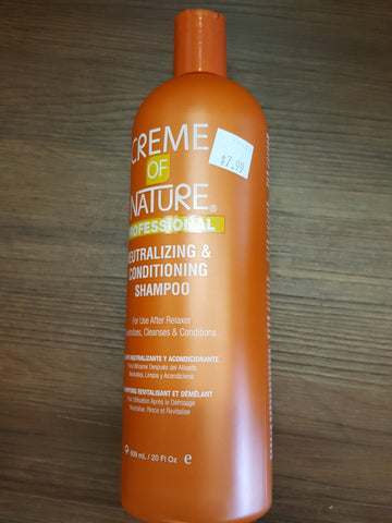 CREME OF NATURE PROFESSIONALS- NEUTRALIZING & CONDITIONING SHAMPOO  - Lynda's Hair