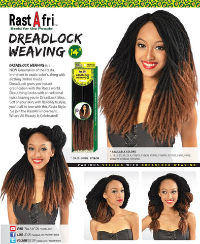 "DREADLOCK WEAVING 8"" - RastAfri Weave - Lynda's Hair"