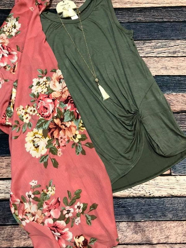 Berry Olive floral Set