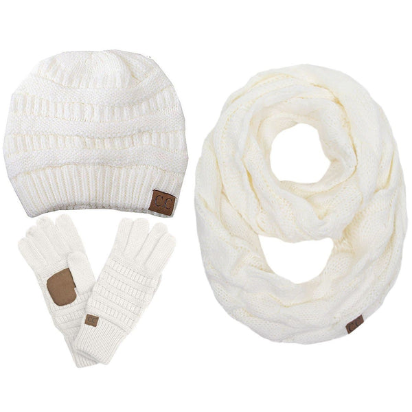 CC Gloves Scarf and Beanie set - Trophy Wife Boutique