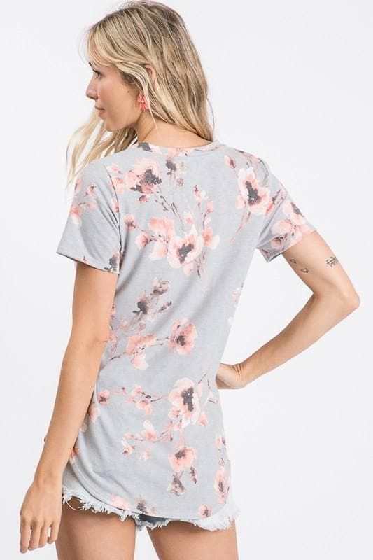 Amanda Gray Blush Floral Top
