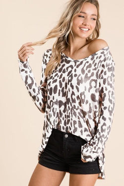 BB Leopard Knit Top - Trophy Wife Boutique
