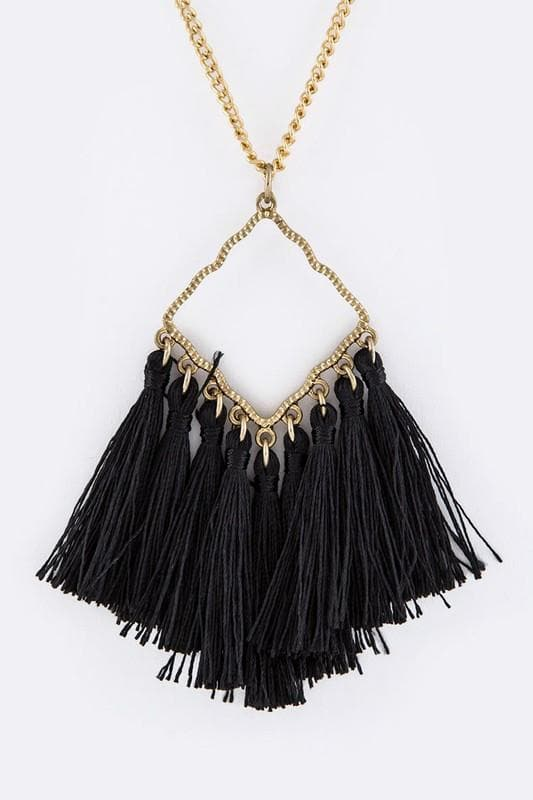 Medallion Tassels Necklaces