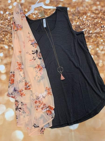 Make Me Blush Floral Kimono or Set - Trophy Wife Boutique