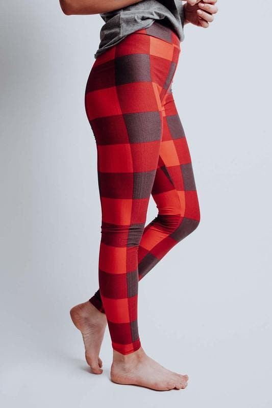 Buffalo Plaid Leggings - Trophy Wife Boutique