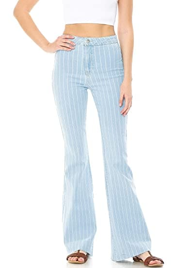 Striped High Waisted Jeans