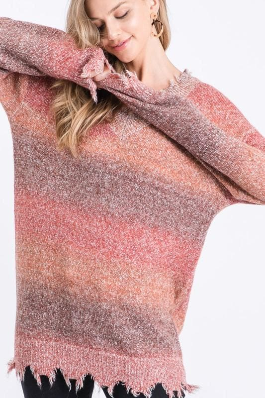 Rust Ombre Sweater