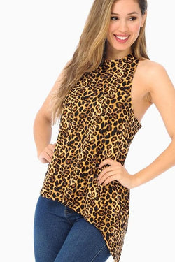 Leopard Criss Cross Tank - Trophy Wife Boutique