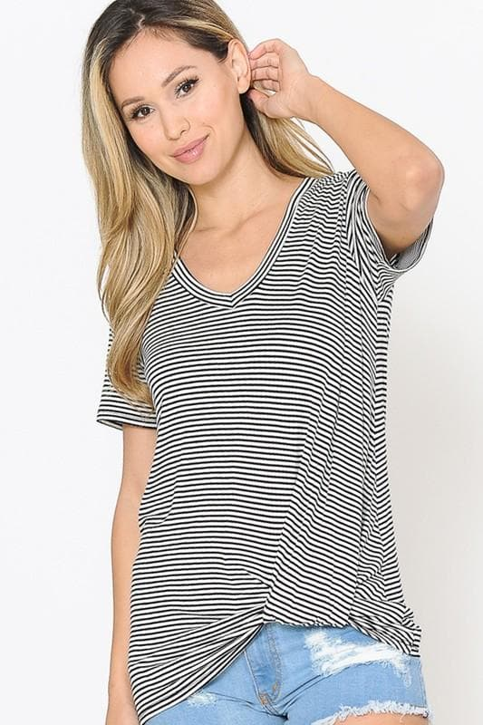 Striped Twisted Knot Tee
