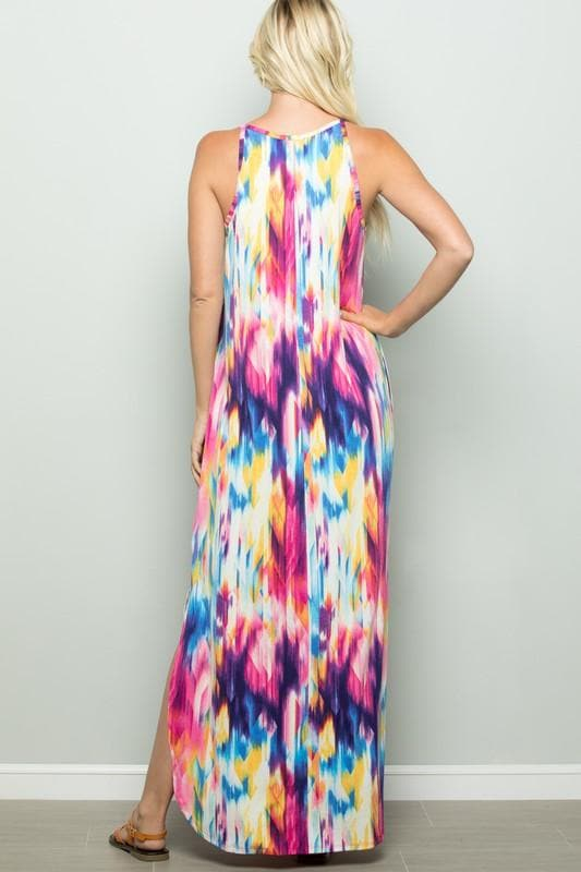 Watercolor Maxi Dress - Trophy Wife Boutique