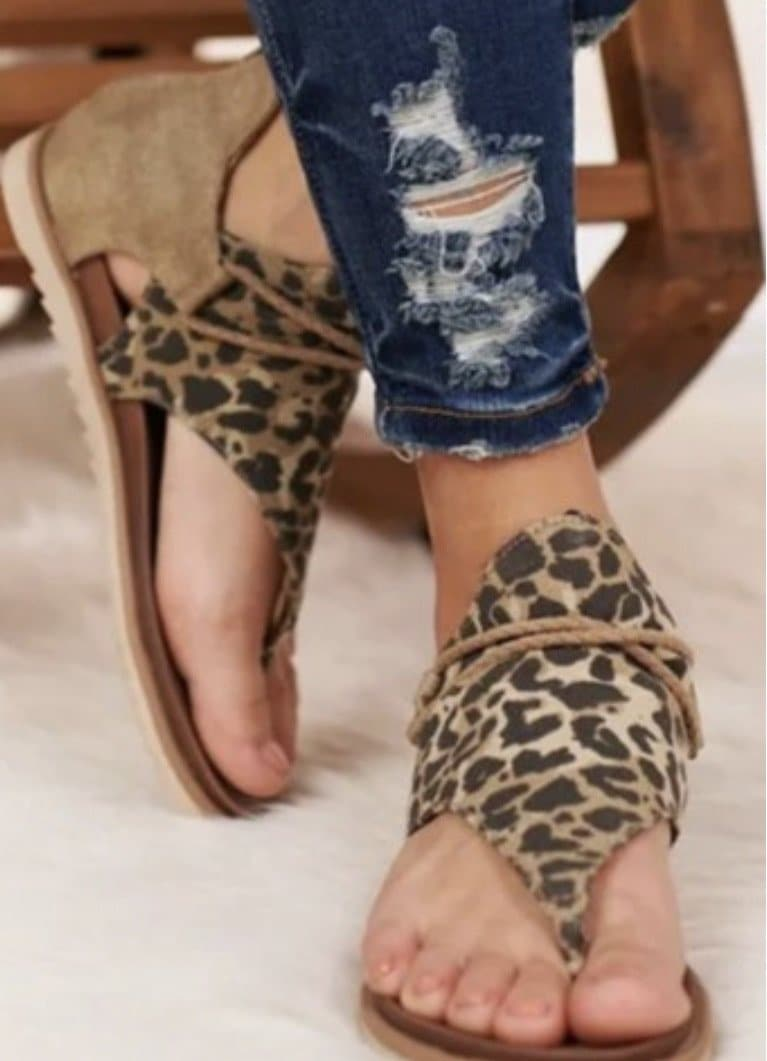Walk on the Wild Side Leopard Sandals - Trophy Wife Boutique