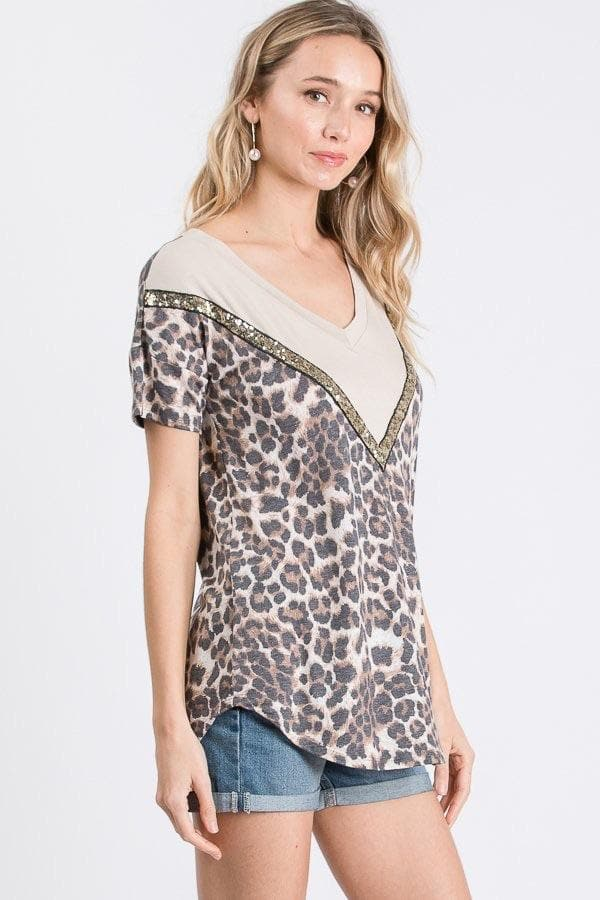 Leopard Sparkle Top