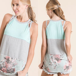 Mandy Mint Colorblock Tank