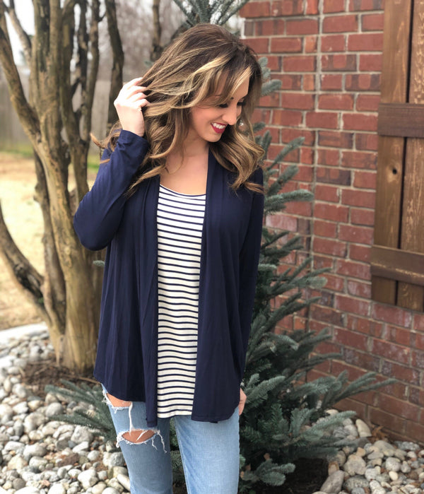Navy Stripes Set - Trophy Wife Boutique