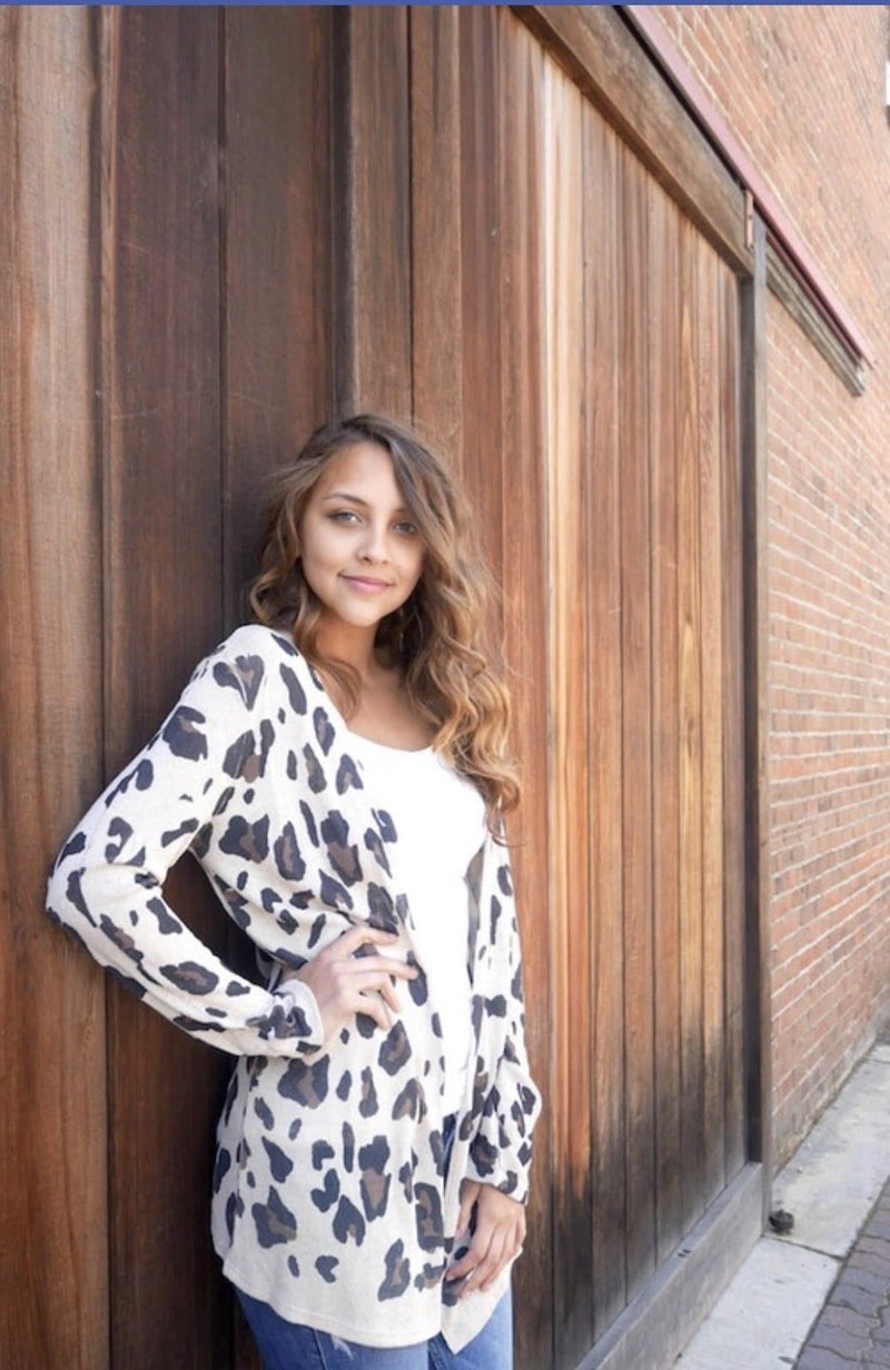 Vanilla Knit Leopard Cardigan - Trophy Wife Boutique