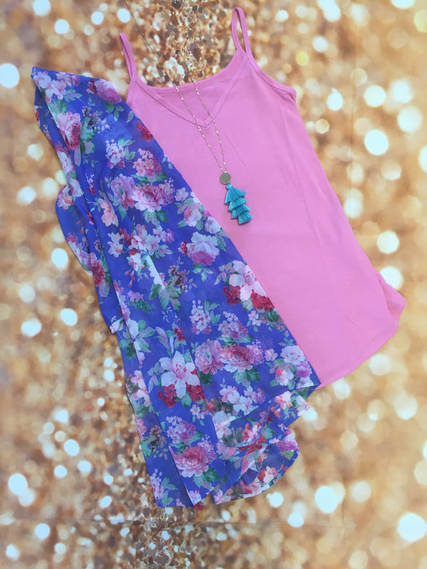 Periwinkle Meadows Set or Kimono - Trophy Wife Boutique