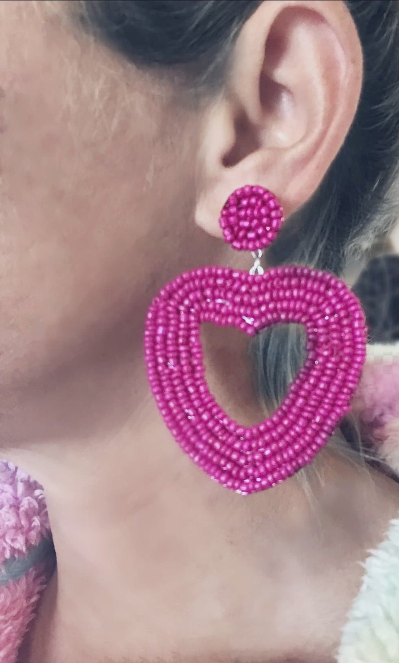 Heartbreaker Beaded Earrings