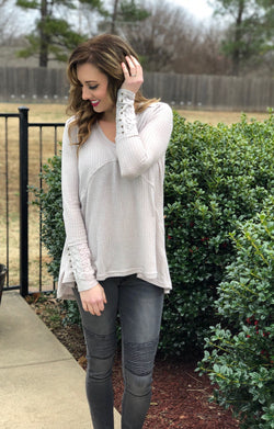 Lovely Lace Thermal Top - Trophy Wife Boutique