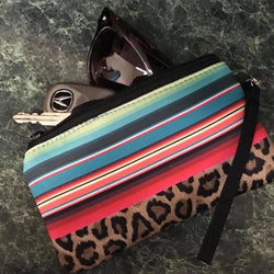 Serape Leopard or Cactus Mini Clutch
