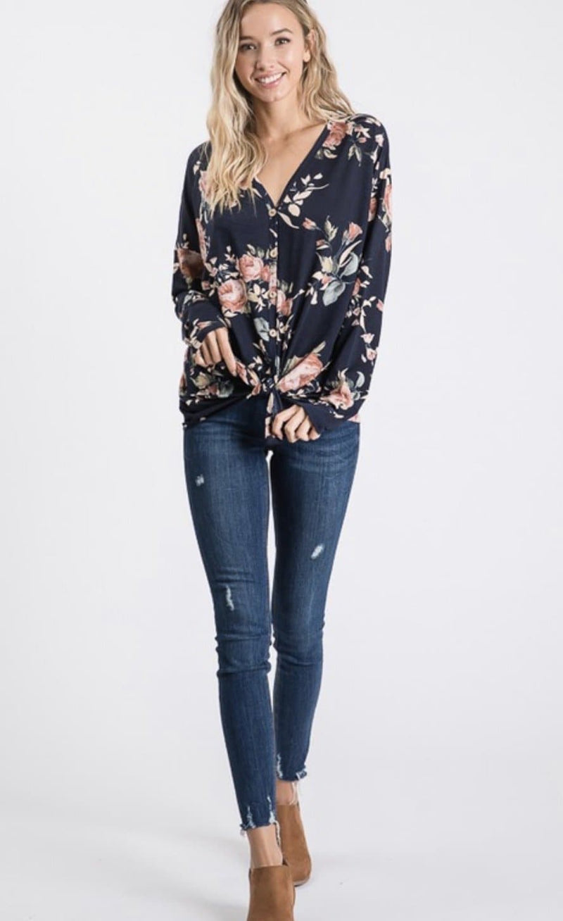 Jenny Floral Tie Top
