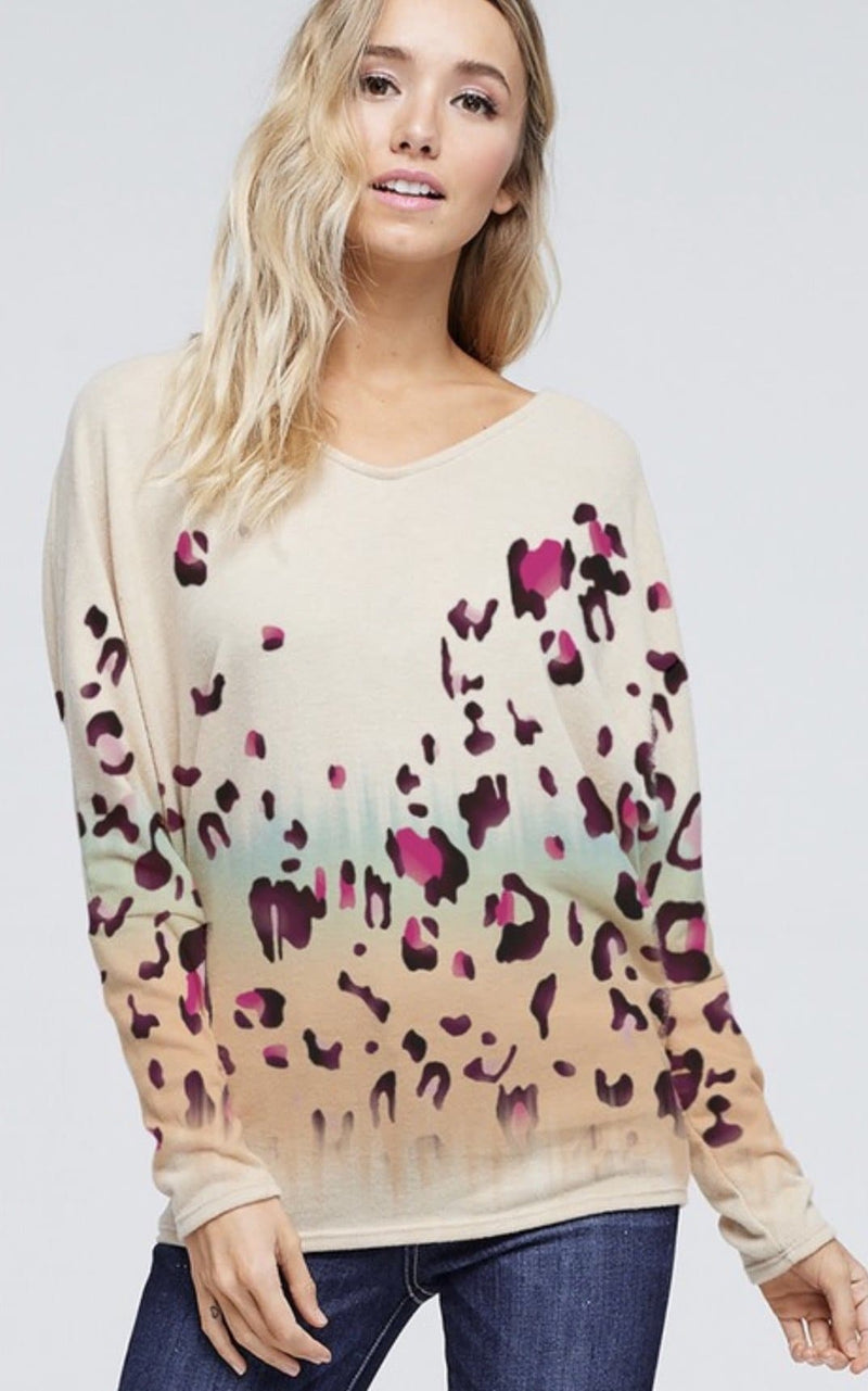 Delaney Leopard Sweater
