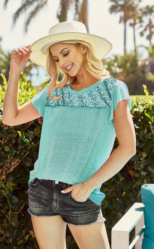Jenny Leopard Top ~ New Spring Colors