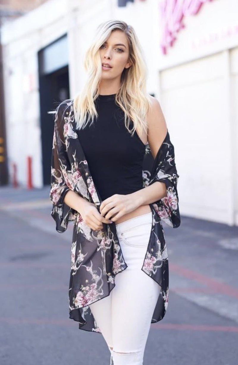 Bull floral kimonos - Trophy Wife Boutique