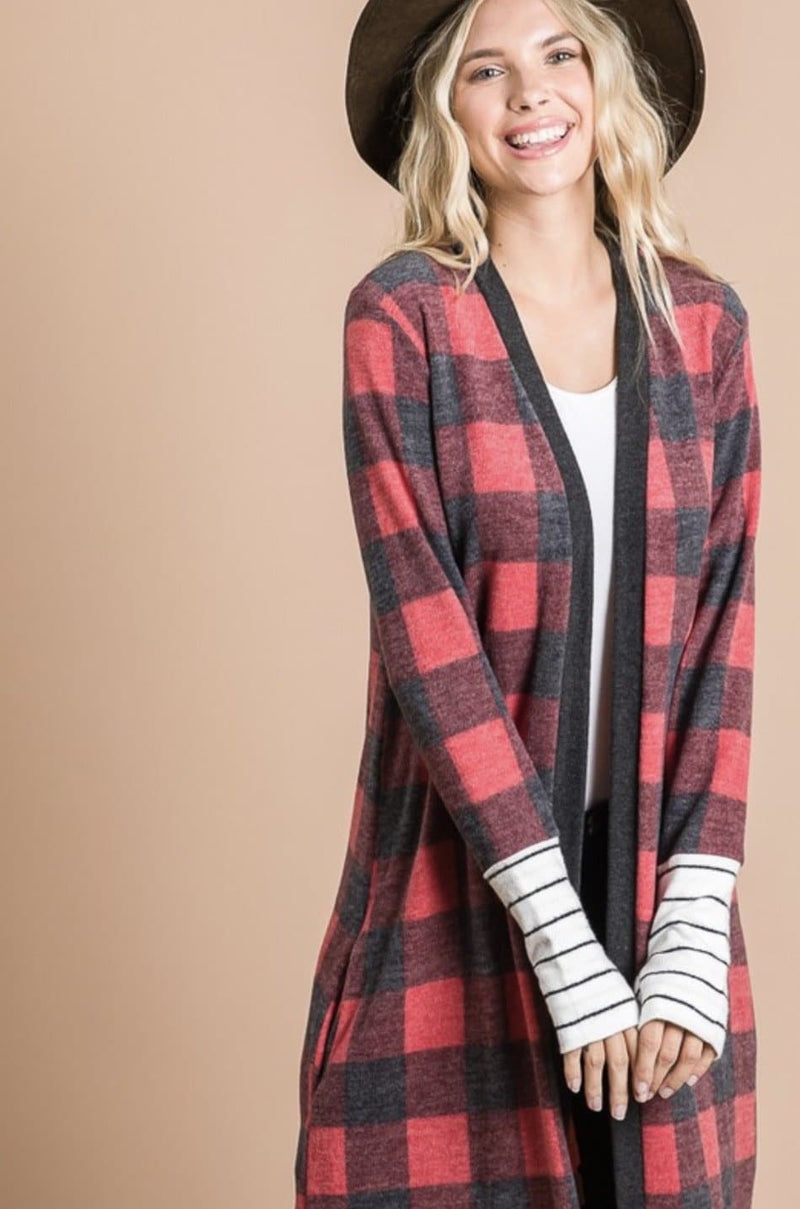 Buffalo Plaid Cardigan WS